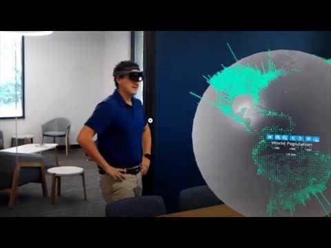HoloLens Data Visualization using GIS and 3D Globe