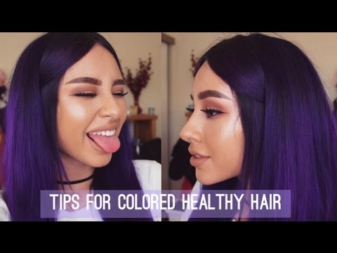 HAIR TIPS FOR COLORED, HEALTHY, LONG HAIR | What I Do