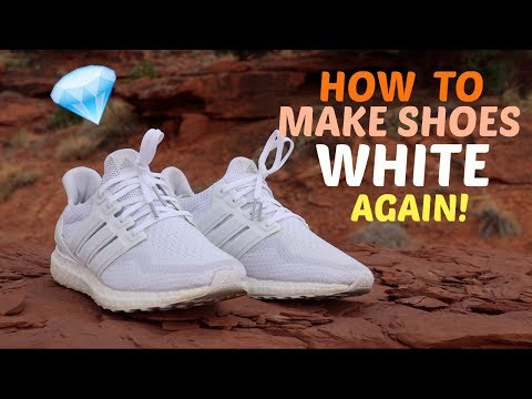 HOW TO CLEAN WHITE SNEAKERS ( SHOES ) LIKE NEW