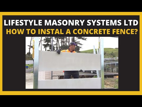 Concrete Fence Install - Steel Posts