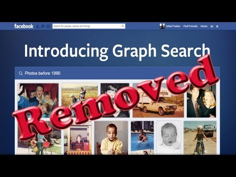 How to: remove facebook graph search from facebook profile  [HD + Narration]