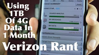 Using 1tb Of Unlimited 4g Data In 1 Month Verizon Rant