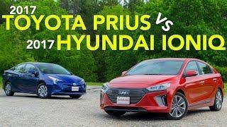 2017 Toyota Prius vs Hyundai Ioniq Hybrid Comparison