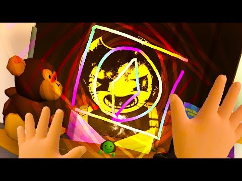 IS THIS THE REAL WAY TO SUMMON BENDY IN BABY HANDS?!!? (Baby Hands VR HTC Vive)