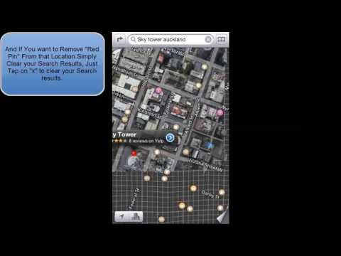 HOW TO REMOVE RED PIN IN IOS 6 APPLE MAPS (IPHONE 5 IPOD TOUCH)