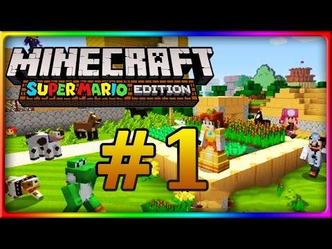 Let's Show MINECRAFT WII U EDITION | Mario Mashup Pack | Mario-Welt Part 1