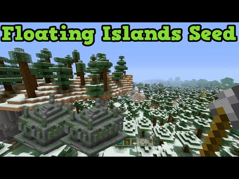 Minecraft Xbox 360 / PS3 Seed: FLoating Islands, Glitch & 2 Jungle Temples