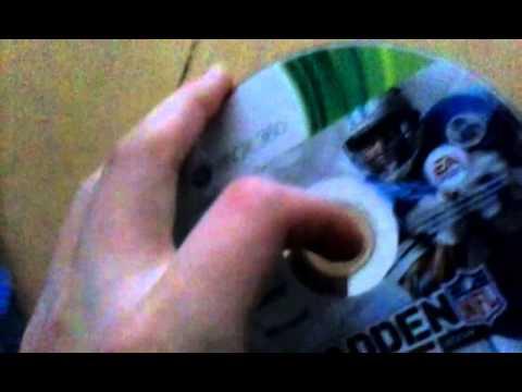 How do you fix a cracked xbox 360 game disk?