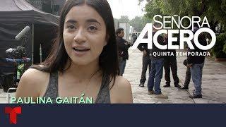 Señora Acero 5 | Así Se Divierten Paulina Gaitán Y David Chocarro En Las Grabaciones | Telemundo