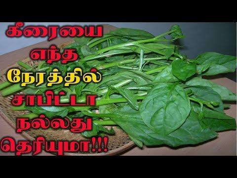 கீரையை எந்த நேரத்தில சாப்பிட நல்லது தெரியுமா ??? |Health tips|beauty tips |Tamil News|