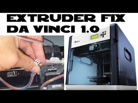XYZ Da Vinci 1.0 3D Printer: extruder not heating fix DIY