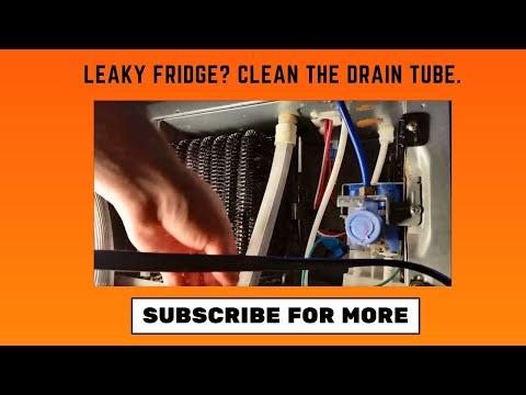 Repairing water leak inside fridge: Freezing drain vs. clogged drain line