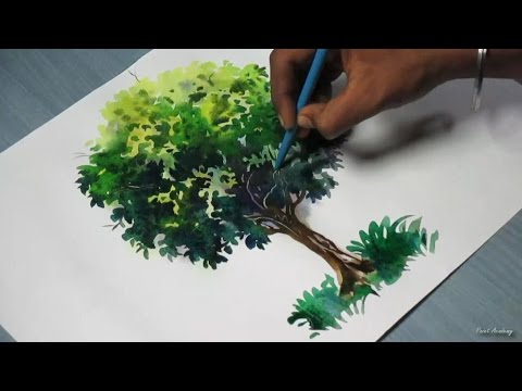 How to Paint A Tree with Watercolor