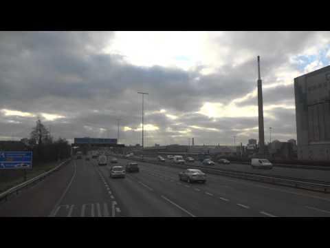 Belfast entrance highway, bus from airport Northern Ireland UK