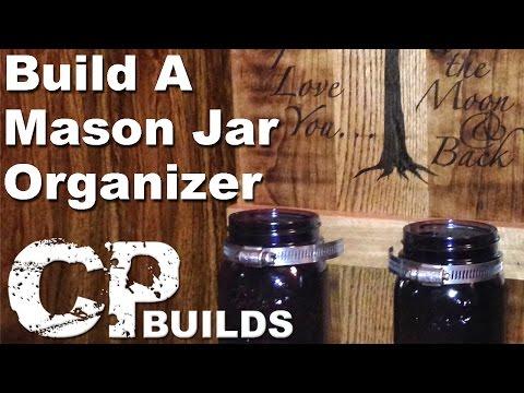 DIY Pallet Wood Mason Jar Organizer // Woodworking How-To