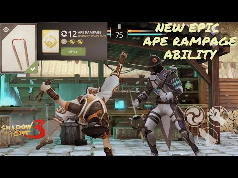 Shadow Fight 3 New Epic Ape Rampage Ability NUNCHAKU