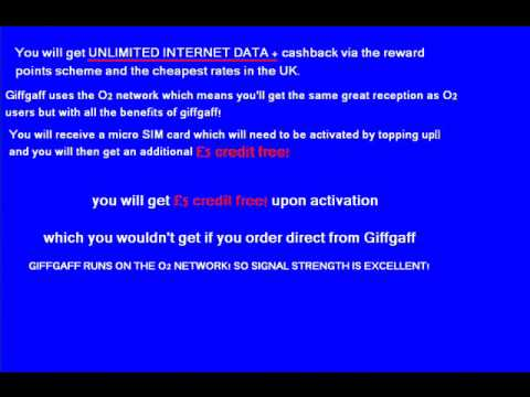 join giffgaff get free micro Sim for iphone / ipad +£5.00 credit pond activation