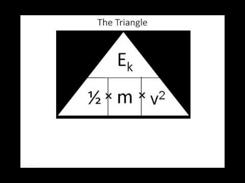 KS4 Energy - Rearranging the Kinetic Equation using triangles