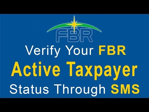 Verify Your FBR Active Taxpayer Status Through SMS - Check Online FBR Active Taxpayer