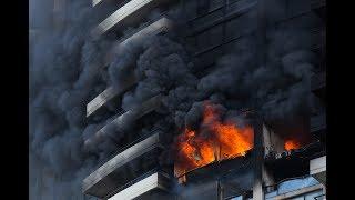 Marco Polo Building Fire B-Roll Video Honolulu Hawaii July 14, 2017