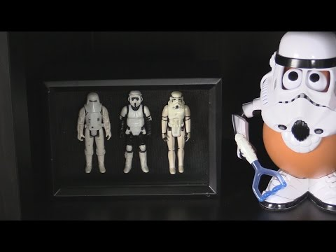 Star Wars Action Figure Shadow Box - Quick and Easy DIY Craft Project for Displaying Toys
