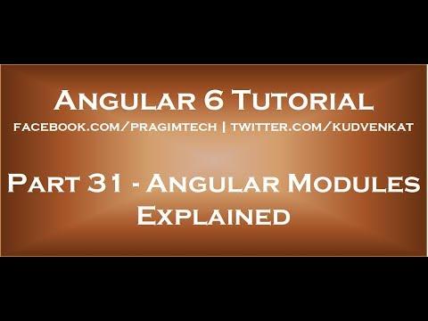 Angular modules explained