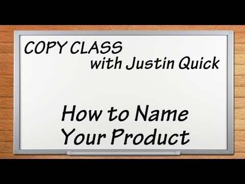 How to Name Your Product