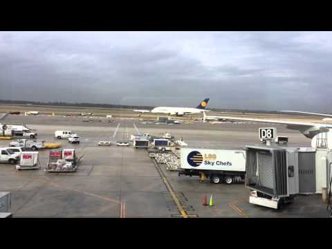 Airbus A380's George Bush Intercontinental Airport Terminal D