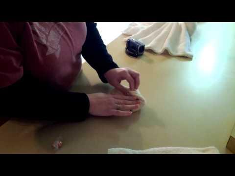 2012.02.25 - Theresa making a washcloth flower