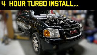 Installing an EBAY TURBO on our Gm 4200 Vortec! Budget American Barra?