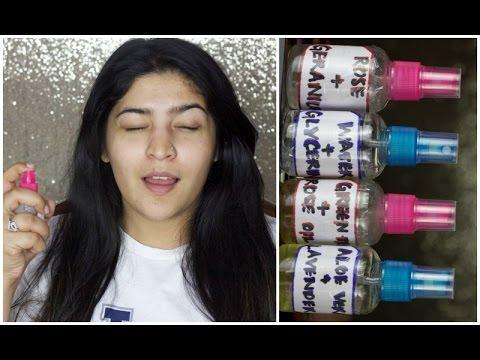 DIY 4 Setting Sprays | Makeup Fixing sprays & Facial Mists | #DIYWeek Day 5