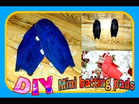 How to make cricket pads at home.Must watch | Mini batting pads at home|