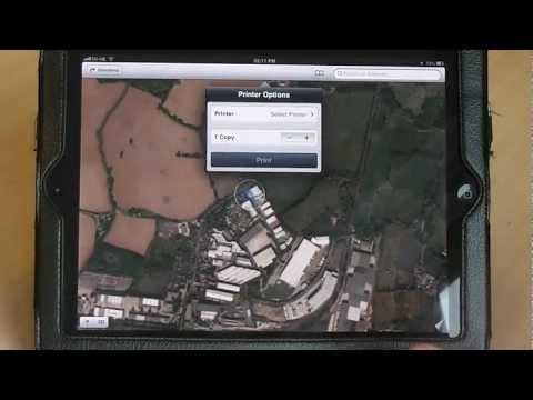 Printing maps on the iPad