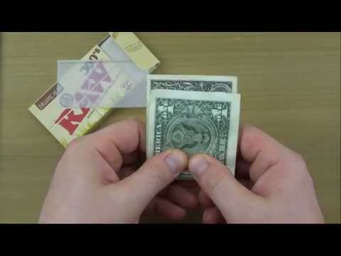 How to Roll a Joint With a Dollar Bill