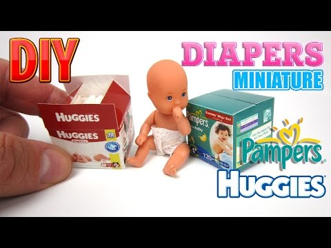 DIY Diapers Miniature Pampers and Huggies Dollhouse