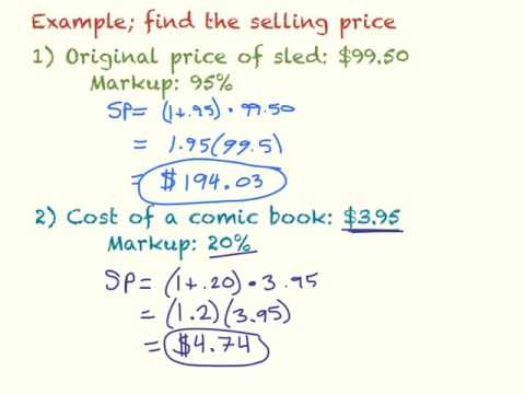 Markup, Discount, and Tax