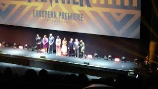 Black Panther European Premiere intro from Ryan Coogler, Chadwell Bosman & Michael B. Jordan
