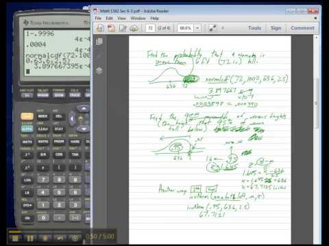 Math 1342 - Statistics: Normal Distribution (non-standard)