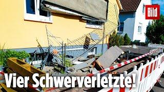 Sofa zu schwer – Balkon kracht in die Tiefe – Vier Schwerverletzte