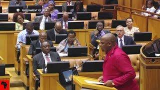 Floyd Shivambu Ask Cyril Ramaphosa TWO Difficult Questions