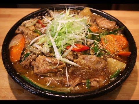 Braised chicken with vegetables (Dakjjim:안동찜닭)