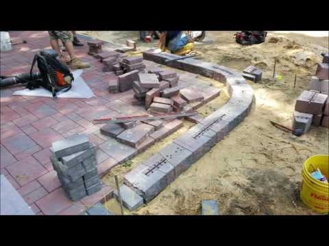 CAMBRIDGE PAVER PATIO AND SITTING WALL