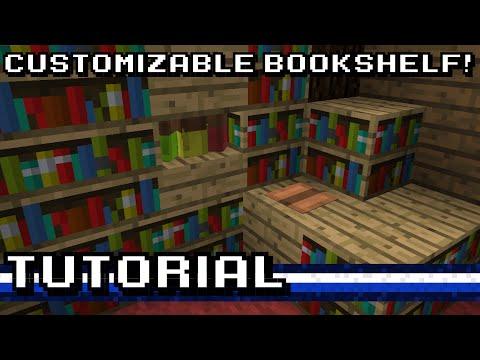Minecraft: Custom Bookshelf! [Tutorial]