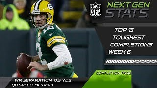 Top 15 Toughest Completions of Week 6 | NFL Highlights