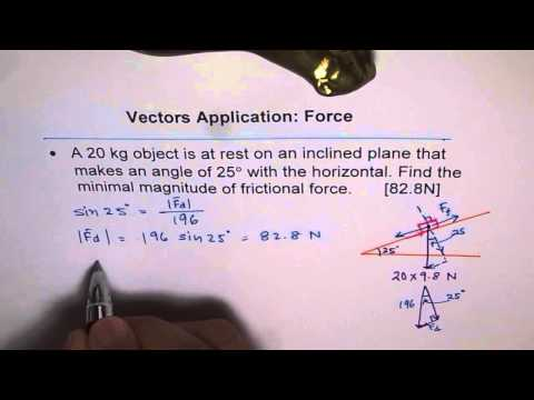 Find Friction Force in Inclined Plane