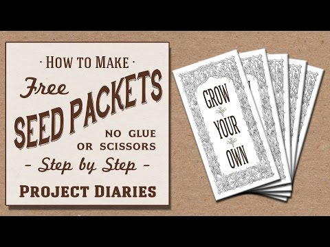 ★ How to: Make Free Seed Packets (No Scissors or Glue Needed)