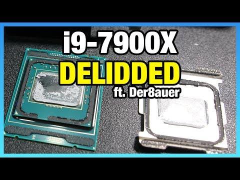 Live Delidding of Intel i9-7900X (ft. Der8auer)