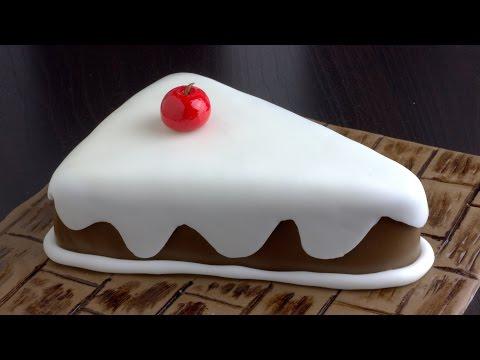 How to Make a Beautiful Fondant Cake Slice   HappyFoods