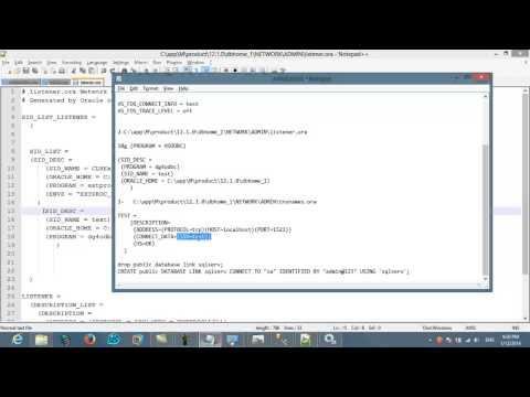 CONNECT ORACLE TO SQLSERVER الاتصال بسكول سيرفر من قاعدة بيانات  اوراكل