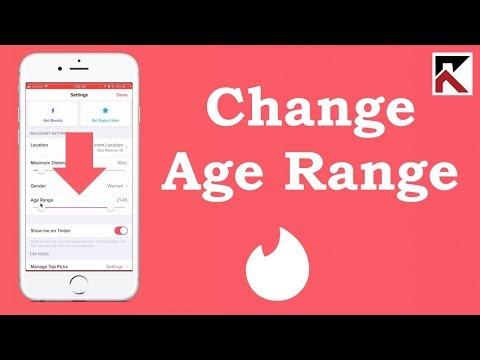 How To Change Age Range On Tinder